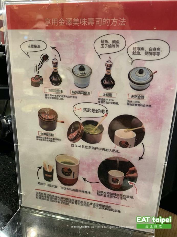 金澤壽司吃法介紹