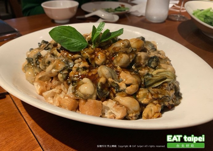 富錦樹台菜香檳EAT Taipei油條蒜蓉鮮蚵